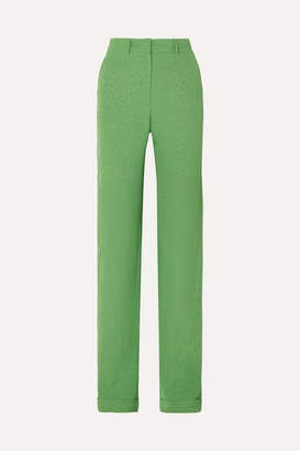 MATÉRIEL Jacquard Straight-leg Pants - Green