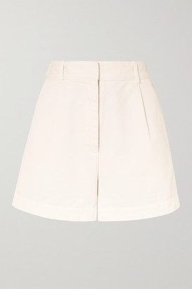 Nili Lotan Talyn Cotton-gabardine Shorts - Cream