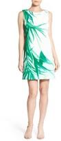 Catherine Malandrino Women's 'Raffie' Palm Print Shift Dress