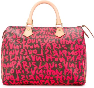 Louis Vuitton pre-owned Speedy 30 graffiti handbag