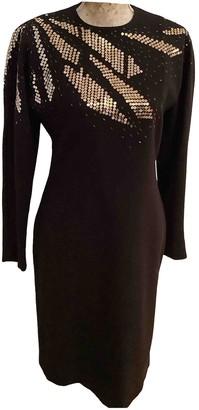 Emmanuelle Khanh Black Wool Dress for Women Vintage