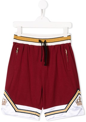 Dolce & Gabbana Kids Crown Track Shorts
