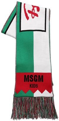 MSGM Acrylic Blend Knit Scarf