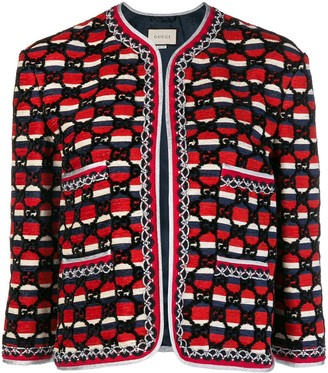 Gucci woven GG jacket