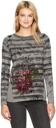 Desigual Women's Lia Woman Flat Knitted Thin Gauge Pullover