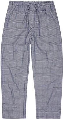 Derek Rose Kelburn houndstooth brushed cotton pyjama trousers