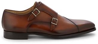 Magnanni Leather Double Monk-Strap Shoes