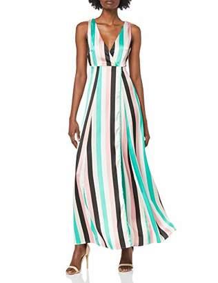 Vila Women's Vispringtime S/L Maxi Dress/Za,10 (Herstellergröße: )