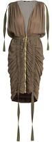 Thumbnail for your product : Balmain Sleeveless V-Neck Draped Dress