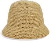 Kate Spade metallic crochet bucket hat