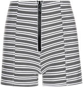 Lisa Marie Fernandez Black Striped Fitted Active Shorts