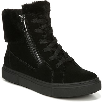 Naturalizer Waterproof Suede Sneaker Booties -Baker