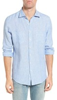Rodd & Gunn Men's Whitford Park Sports Fit Stripe Linen Sport Shirt