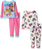 Nickelodeon Little Girls' Toddler Paw Patrol 4-Piece Pajama Set
