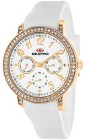 Seapro SP4412 Women's Swell White Silicone Watch with Crystal Accents
