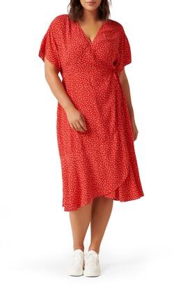 Ever New Clementine Dot Print Wrap Dress