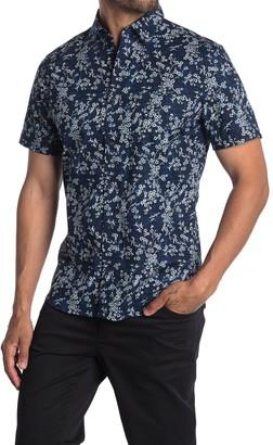 WALLIN & BROS Printed Short Sleeve Trim Fit Shirt