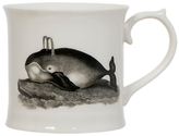 Magpie Curios Whale Mug, White/Multi, 378ml