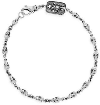 King Baby Studio New Classics Skull Chainlink Sterling Silver Bracelet