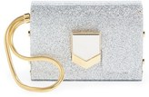 Jimmy Choo 'Lockett Minaudiere' Glitter Clutch - Metallic