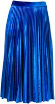 MSGM pleated midi skirt - women - Polyester/Spandex/Elastane - 40