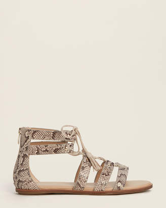 Aerosoles Bone Lottery Ankle Strap Snakeskin-Effect Sandals