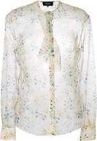 Rochas floral print sheer blouse