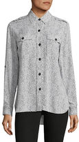 Lord & Taylor Scribble Dot Leigh Blouse