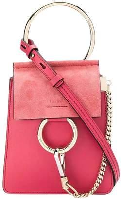 Chloé pink mini faye bracelet bag