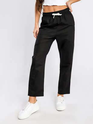 Nude Lucy Classic Linen Pants in Black