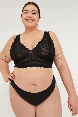 Ardene Plus Size Black Lace Cheeky Panties