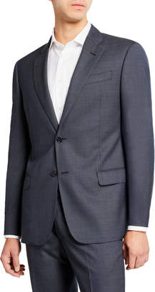 Emporio Armani Men's Super 140s Wool Neat Ice Two-Piece Suit