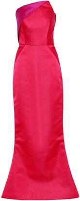 Zac Posen Strapless Paneled Two-tone Duchesse-satin Gown