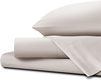 Homestead UK King Percale Sheet Set White Sand