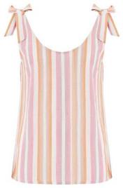 Sugarhill Boutique Zelda Ombre Stripe Tie Shoulder Top - 14