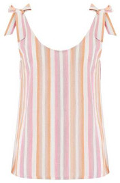 Sugarhill Boutique Zelda Ombre Stripe Tie Shoulder Top - 8