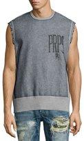 PRPS Sleeveless Fleece Cutoff Shirt, Gray