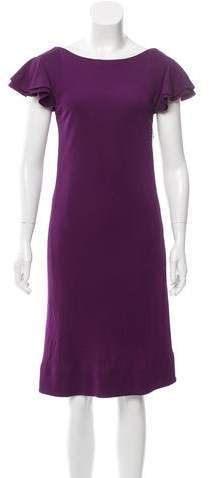 Derek Lam Silk Ruffle-Accented Dress w/ Tags