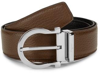 Salvatore Ferragamo Gancio Reversible Leather Belt