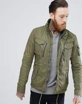 Schott Squad Military Overshirt Jacket in Green