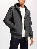 Carhartt WIP Sail Fleece Lined Hooded Jacket, Blacksmith