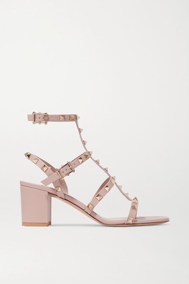 Valentino Garavani Rockstud 55 Leather Sandals - Blush