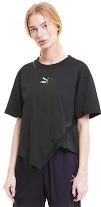 Puma T7 Fashion Tee (Cotton Black) Women's Clothing