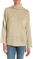 Cotton Emporium Oversized Hi-Lo Turtleneck Sweater