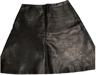 Willow Black Leather Skirt for Women