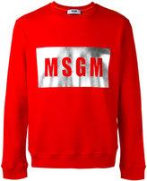 MSGM logo print sweatshirt - men - Cotton - XS