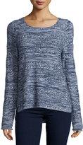 Joie Textured Long-Sleeve Sweater, Dark Navy/Faded Sky