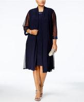 R & M Richards Plus Size Sheath Dress & Sheer-Sleeve Glitter Jacket