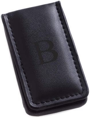 Bey-Berk Black Leather Magnetic Money Clip