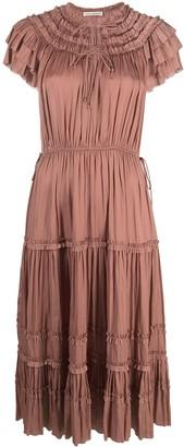 Ulla Johnson Tiered Gathered Midi Dress